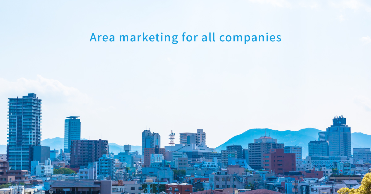 Area marketing for all companies